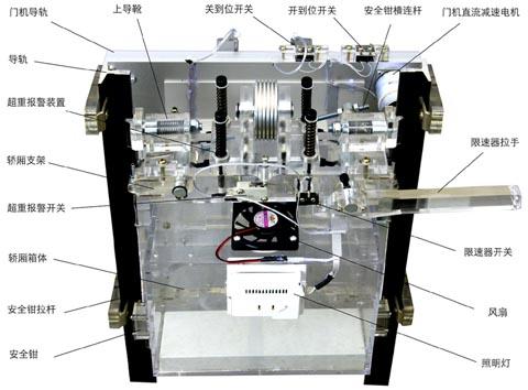 智能型群控电梯实训考核设备.客货两用透明仿真教学电梯双联.四层实图片