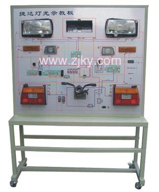 捷达灯光示教板 金杯灯光系统示教板 桑塔纳汽车音箱系统高清图片